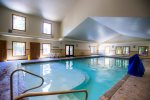 Lots of natural light with the indoor pool